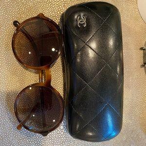 Chanel Round Tortoise sunglasses